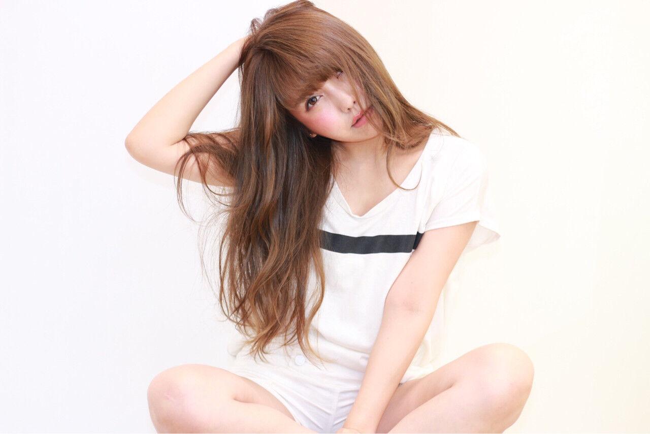 ハイライト 大人かわいい アッシュ グラデーションカラーヘアスタイルや髪型の写真・画像