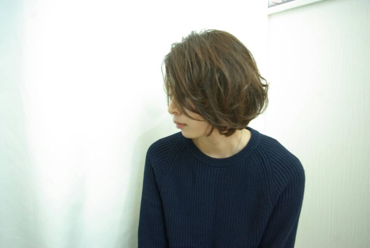 大人かわいい パーマ ゆるふわ ボブヘアスタイルや髪型の写真・画像