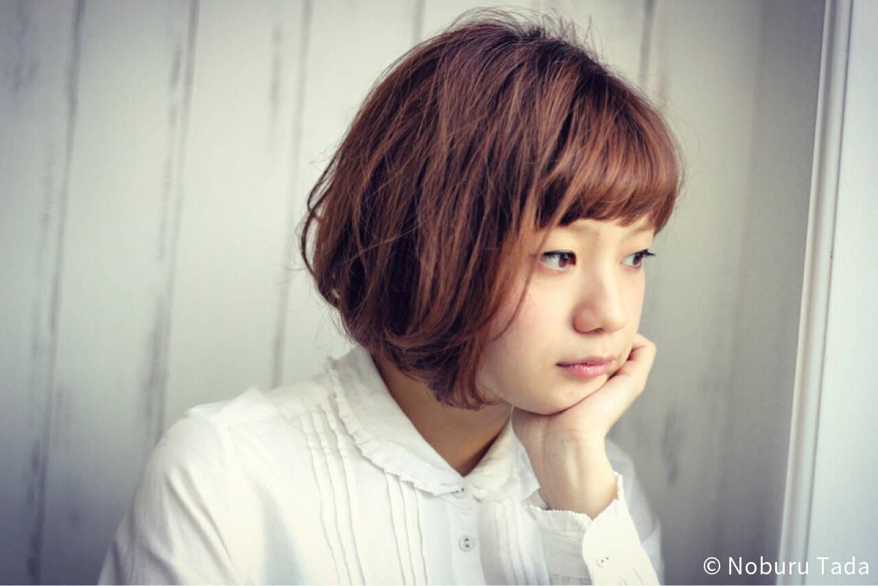 ショート 小顔 大人女子 大人かわいいヘアスタイルや髪型の写真・画像