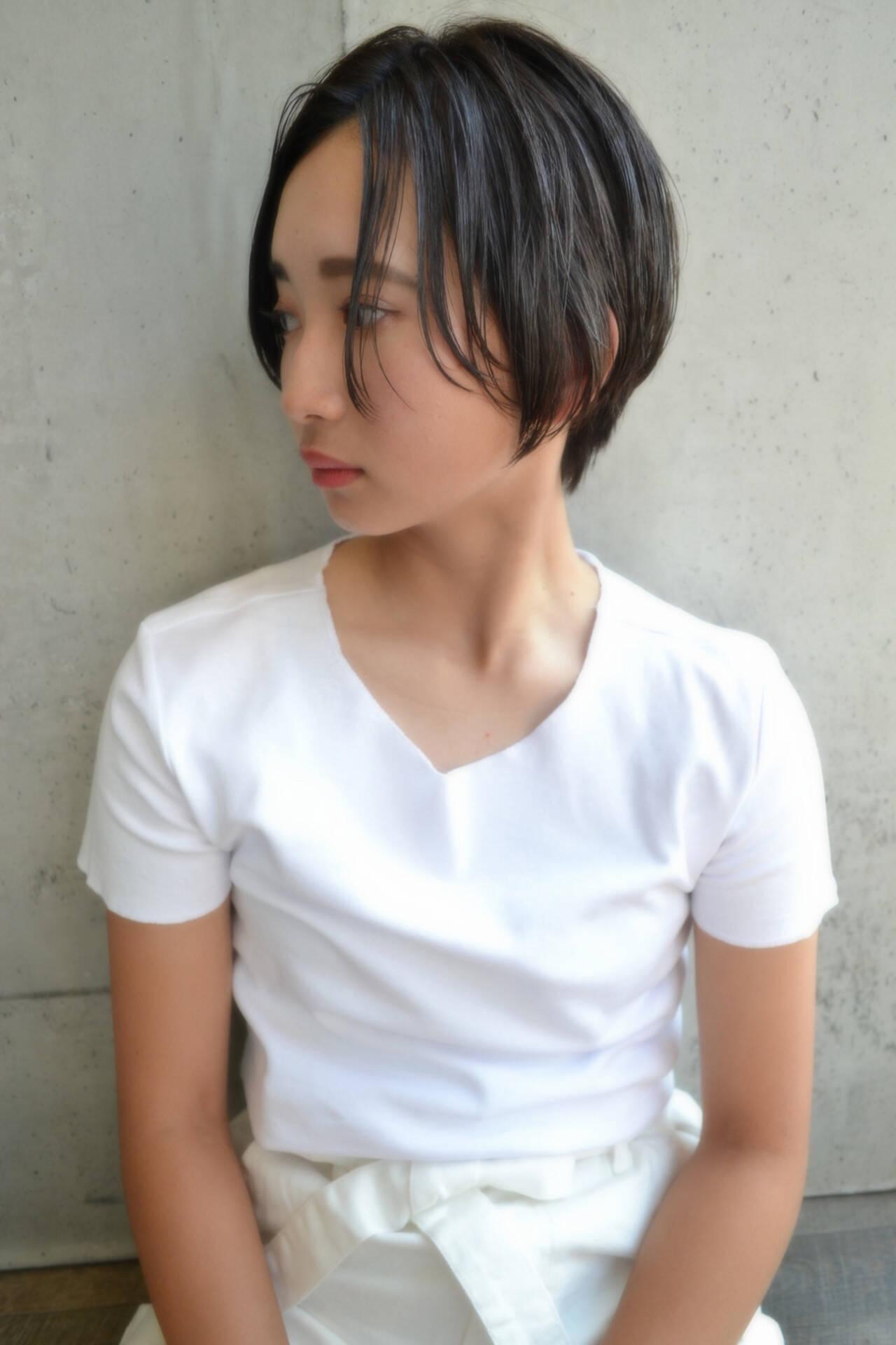ショートボブ ベリーショート ナチュラル ショートヘアスタイルや髪型の写真・画像