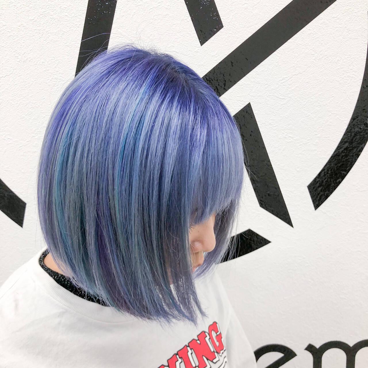 ブリーチオンカラー ブリーチカラー ブリーチ ホワイトブリーチヘアスタイルや髪型の写真・画像