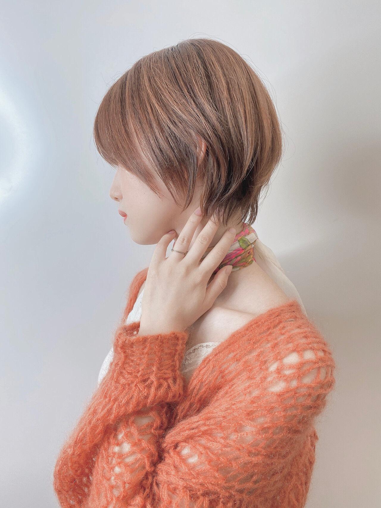 ミニボブ 切りっぱなしボブ ショートボブ ショートヘアスタイルや髪型の写真・画像