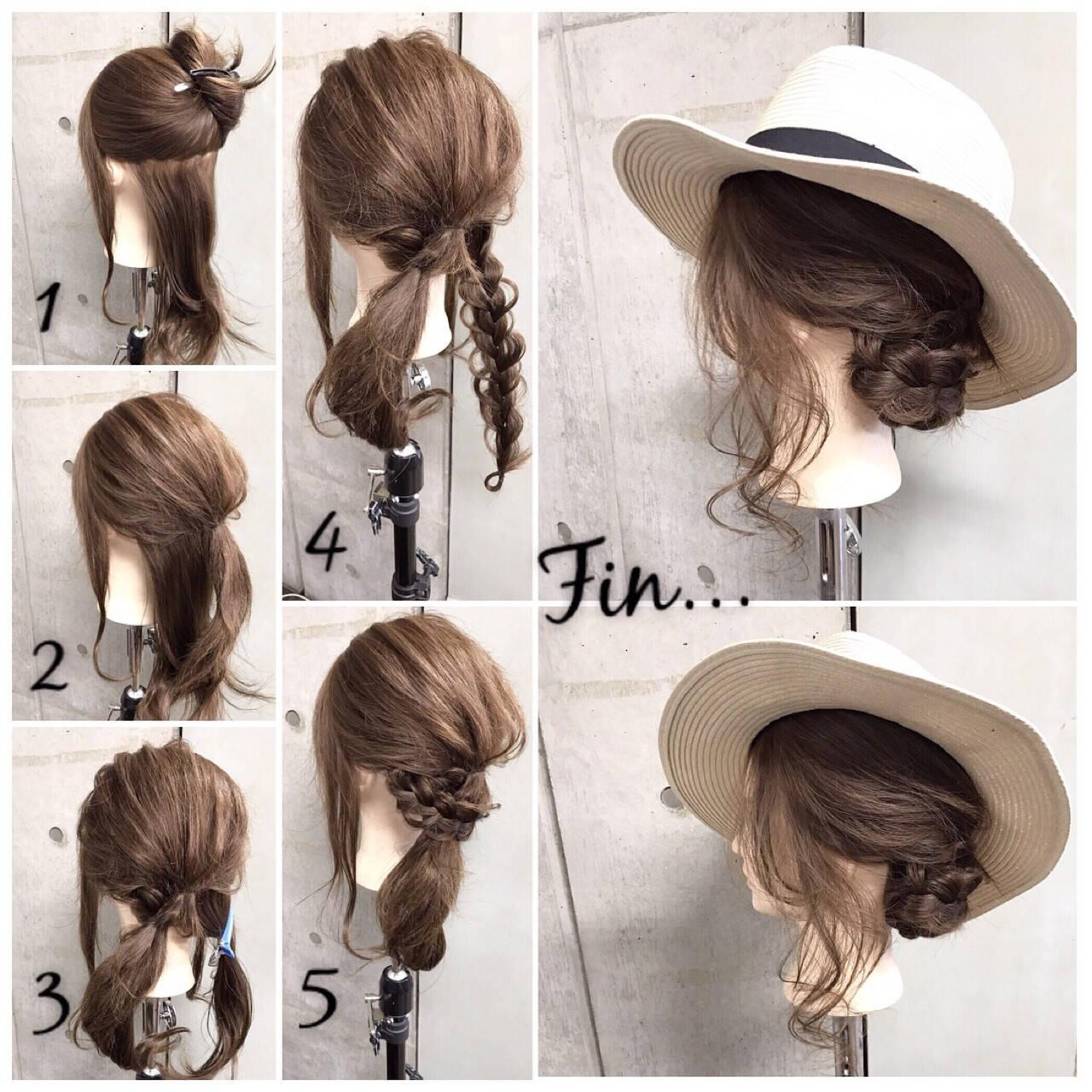 夏 涼しげ 色気 簡単ヘアアレンジヘアスタイルや髪型の写真・画像