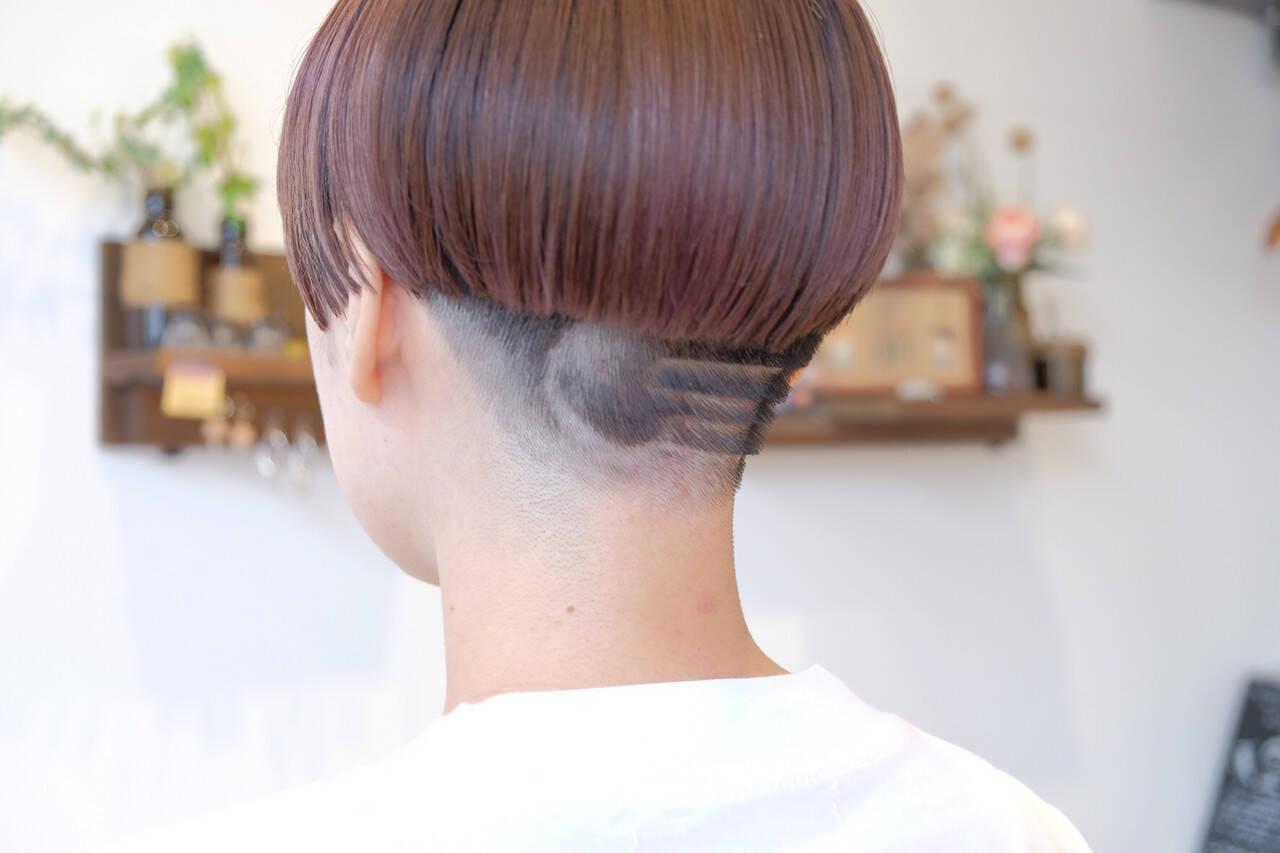 モード 刈り上げ ベリーショート ショートヘアスタイルや髪型の写真・画像