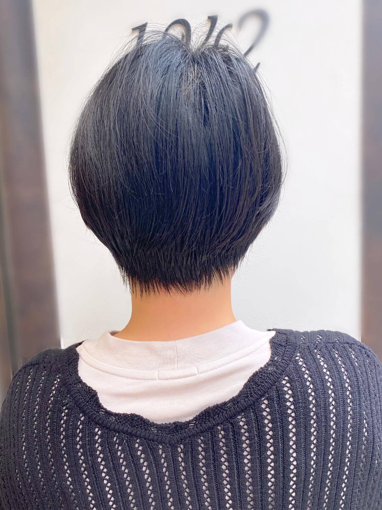 ショートヘア ショートボブ 簡単スタイリング 大人かわいいヘアスタイルや髪型の写真・画像