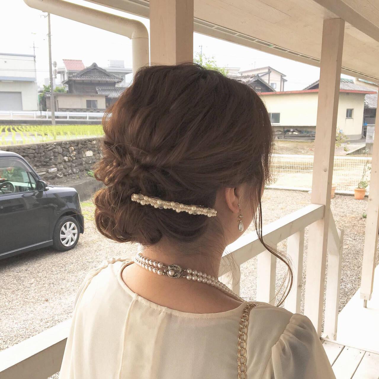 ヘアアレンジ 結婚式 デート 簡単ヘアアレンジヘアスタイルや髪型の写真・画像