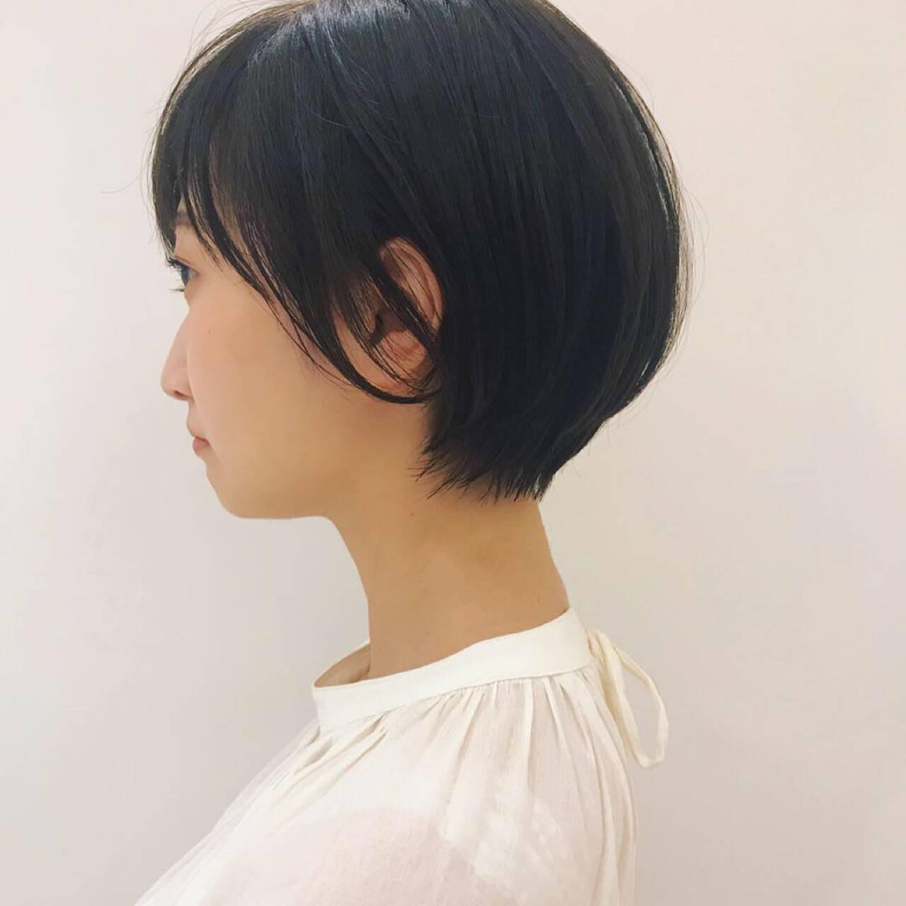 簡単ヘアアレンジ 透明感 ヘアアレンジ ショートヘアスタイルや髪型の写真・画像