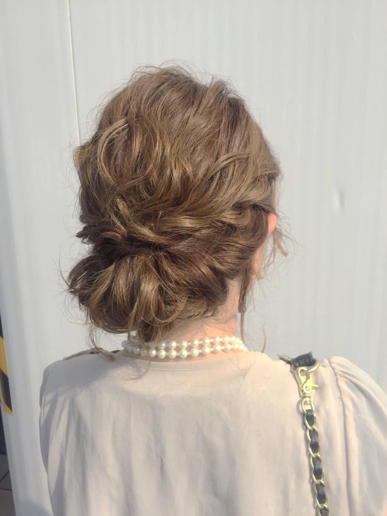大人女子 ナチュラル ミディアム ヘアアレンジヘアスタイルや髪型の写真・画像