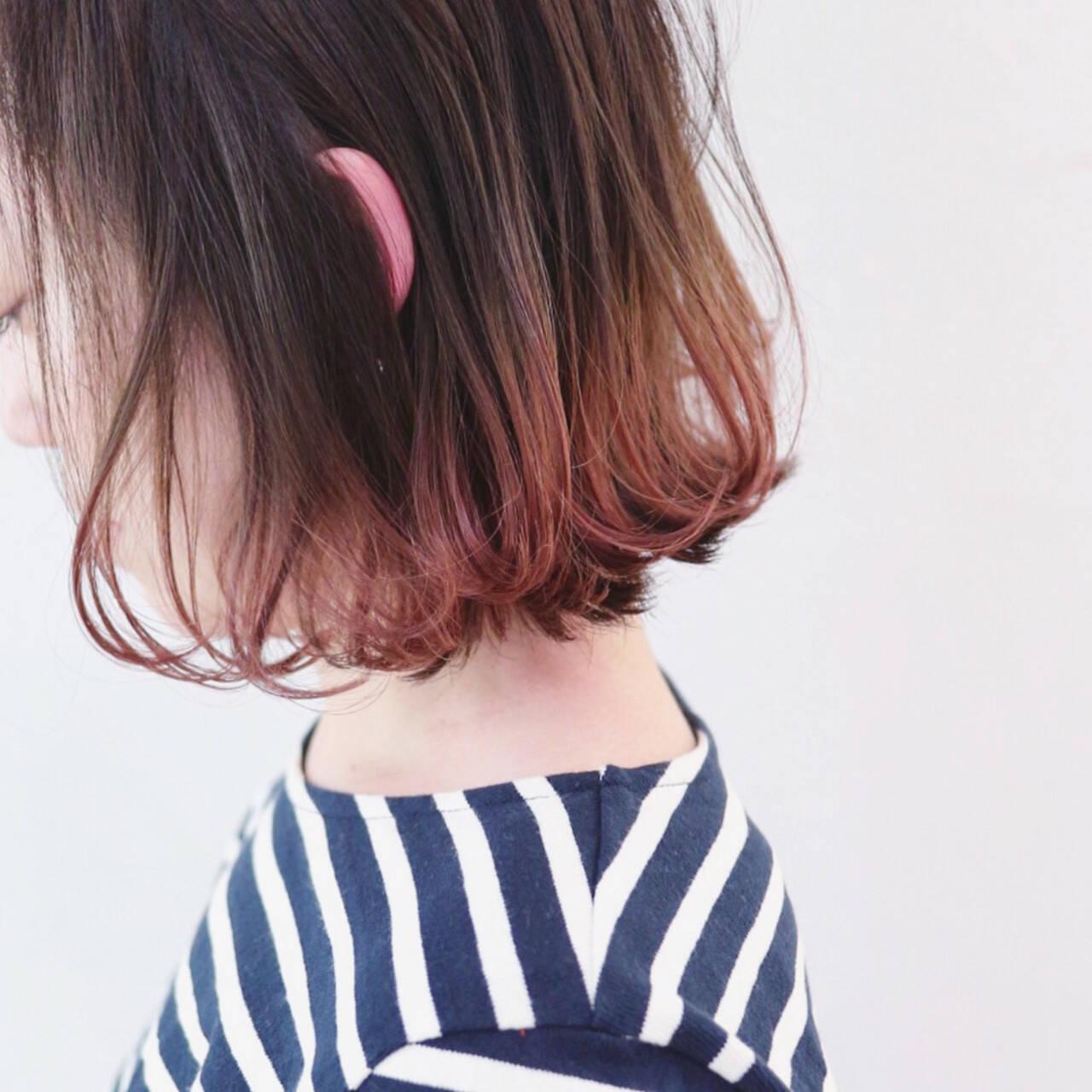 アンニュイほつれヘア ストリート グラデーションカラー パーマヘアスタイルや髪型の写真・画像