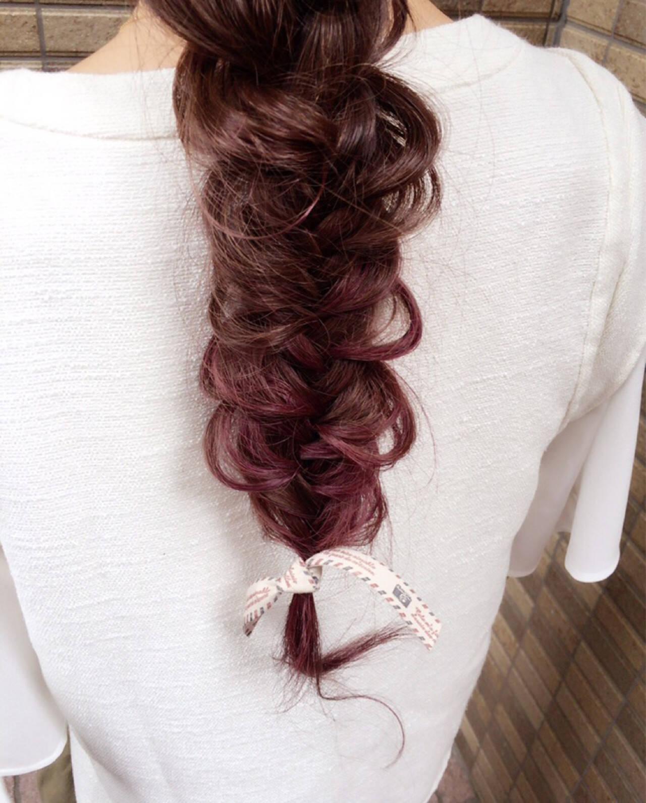 ストリート ショート ハーフアップ 編み込みヘアスタイルや髪型の写真・画像