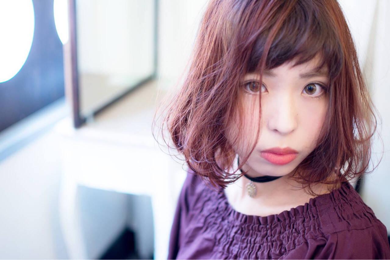 ピンク ピュア ガーリー 色気ヘアスタイルや髪型の写真・画像