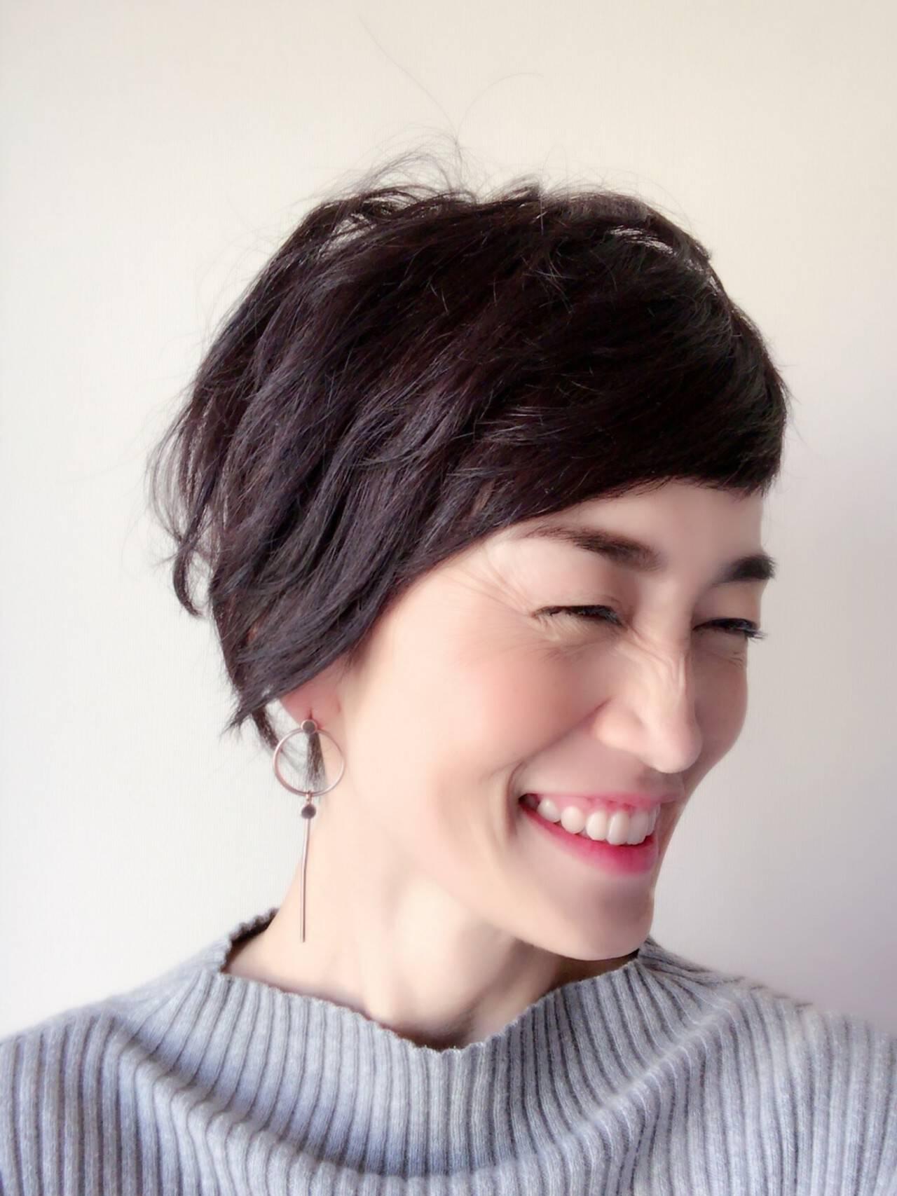 モテ髪 上品 大人かわいい 40代ヘアスタイルや髪型の写真・画像