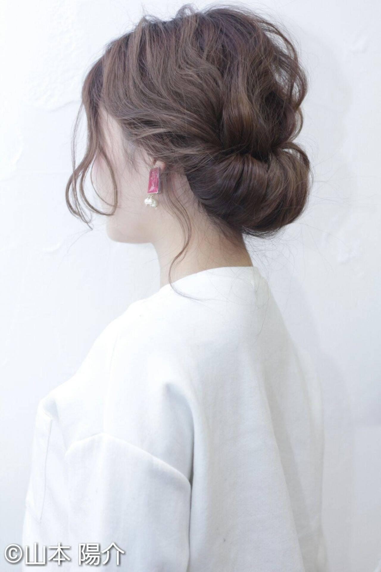 ゆるふわ ナチュラル ヘアアレンジ 大人かわいいヘアスタイルや髪型の写真・画像