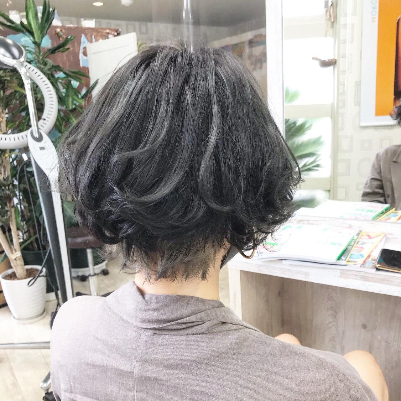 切りっぱなしボブ ベリーショート ショート ショートボブヘアスタイルや髪型の写真・画像