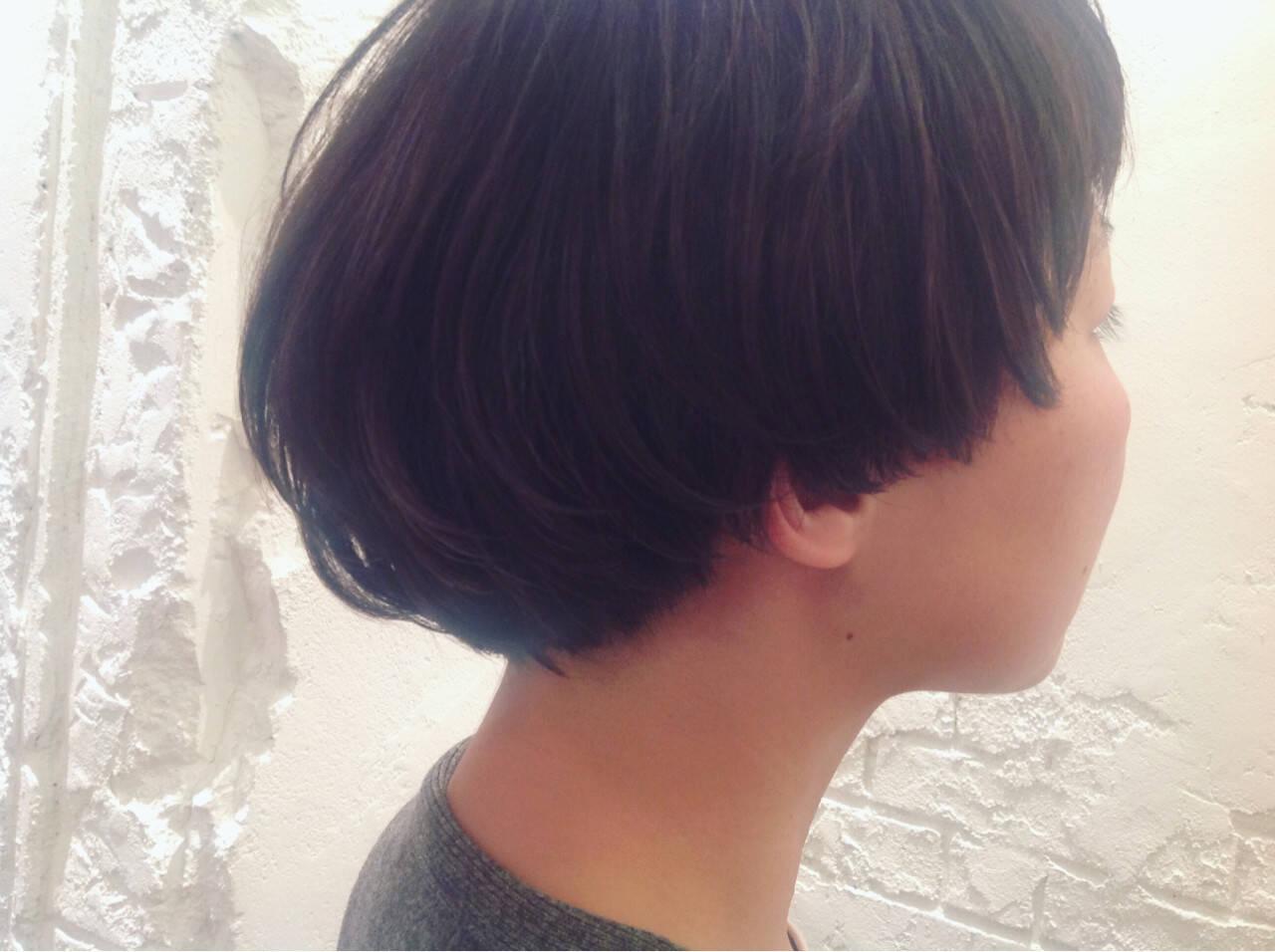 ショート モード マッシュヘアスタイルや髪型の写真・画像
