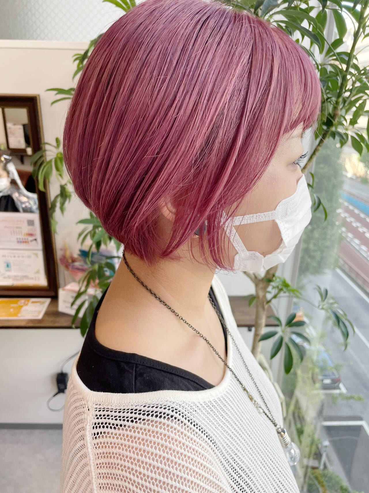 韓国ヘア 韓国風ヘアー ショート ショートボブヘアスタイルや髪型の写真・画像