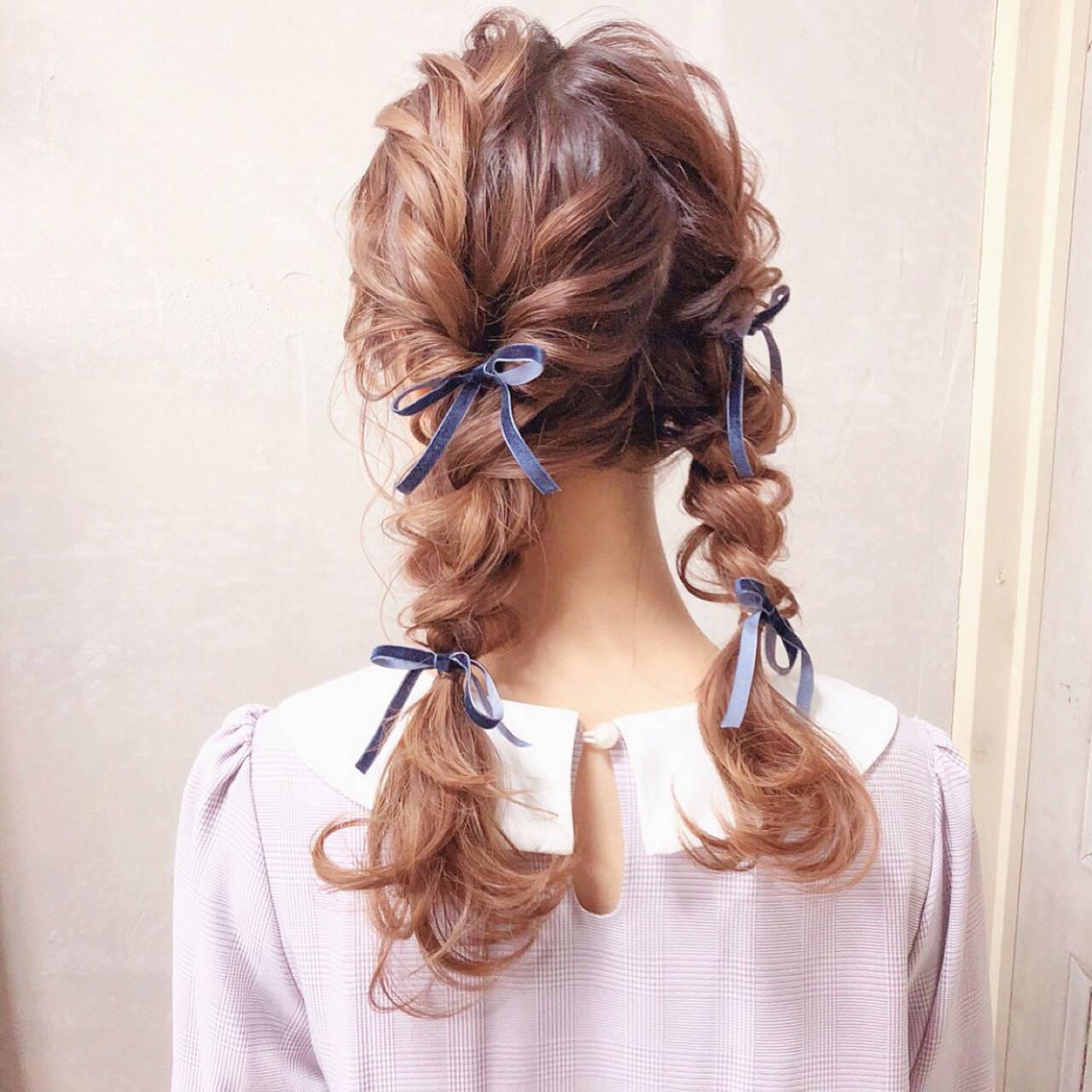 三つ編み ヘアアレンジ 結婚式 ロングヘアスタイルや髪型の写真・画像