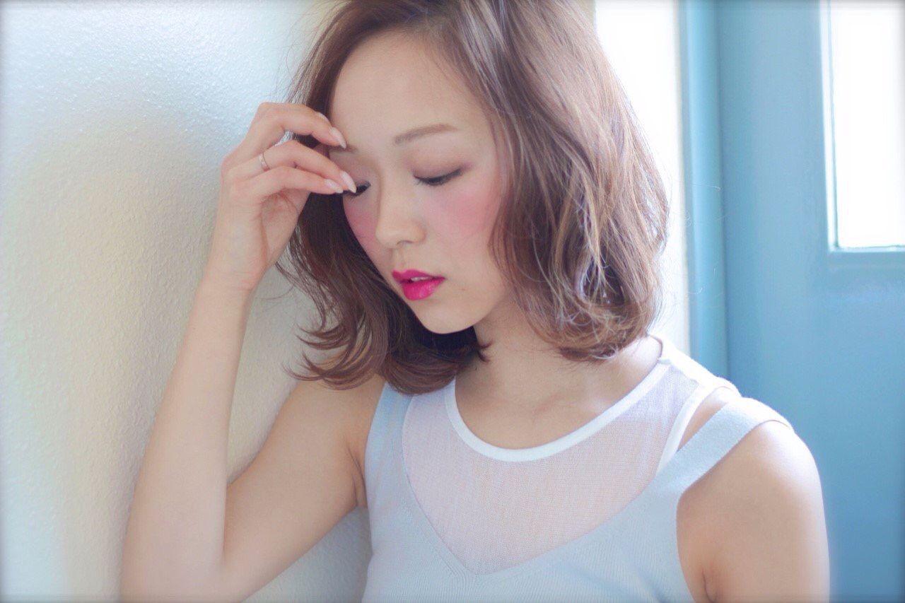 ガーリー モテ髪 パンク ボブヘアスタイルや髪型の写真・画像
