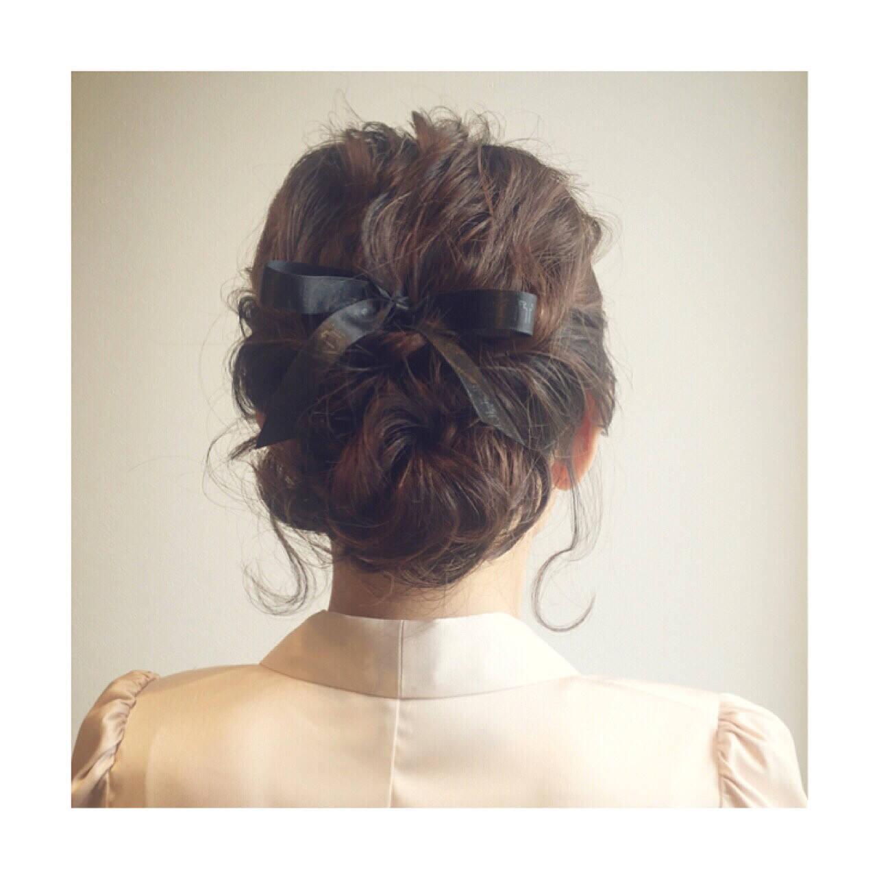 クラシカル ヘアアレンジ ロープ編み パーティヘアスタイルや髪型の写真・画像