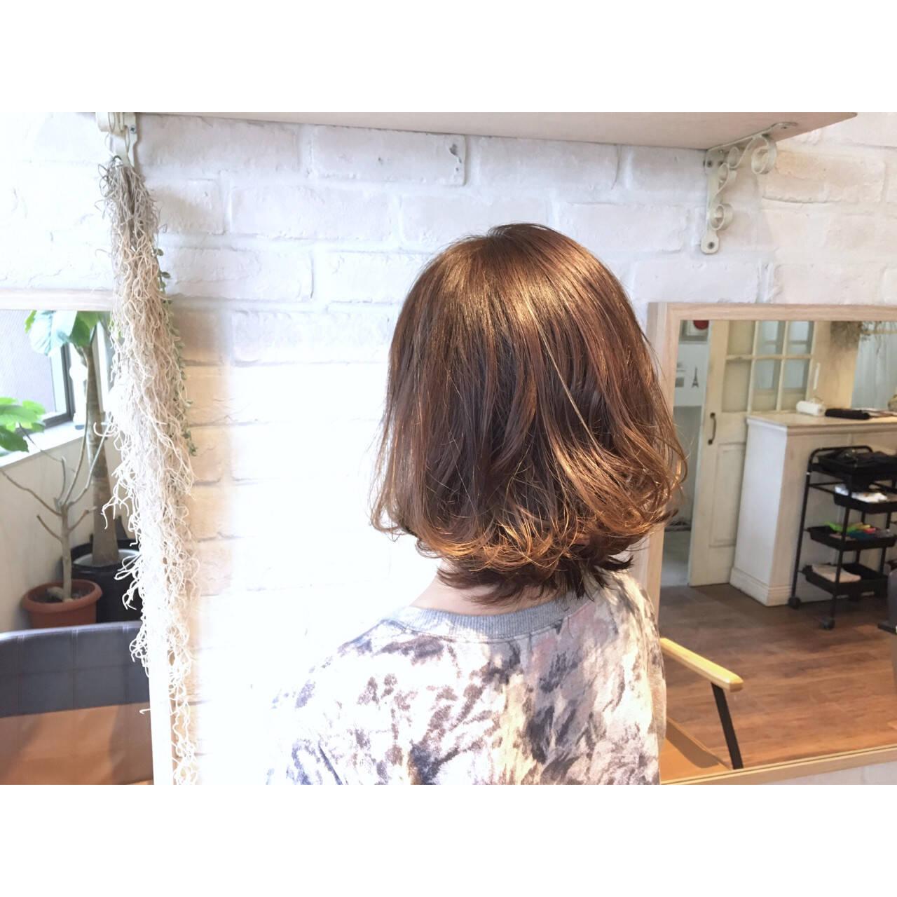 グラデーションカラー ボブ 外国人風 アッシュヘアスタイルや髪型の写真・画像