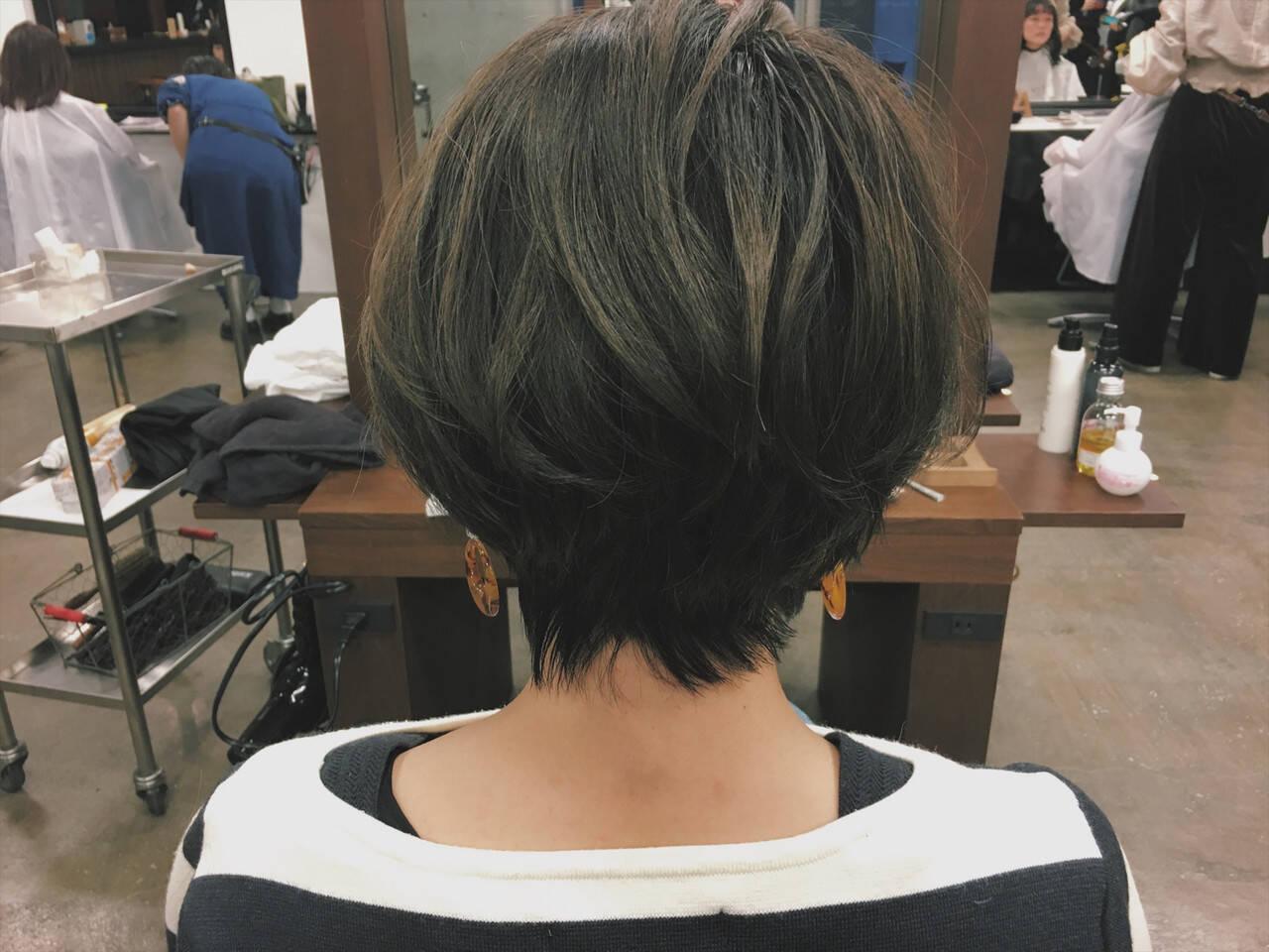 ナチュラル 大人女子 大人ショート ショートボブヘアスタイルや髪型の写真・画像
