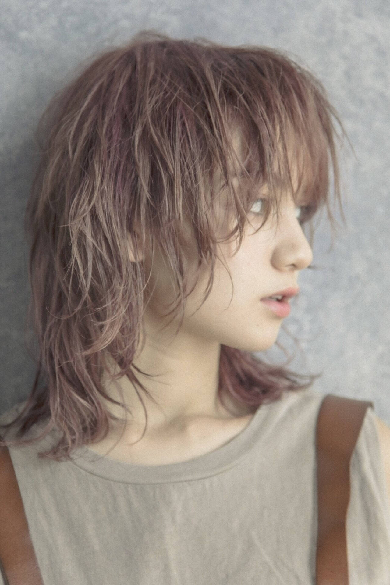 ウルフカット ウルフ ウルフ女子 ミディアムヘアスタイルや髪型の写真・画像