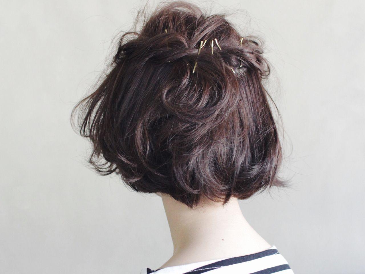 モード 抜け感 簡単ヘアアレンジ ヘアアレンジヘアスタイルや髪型の写真・画像