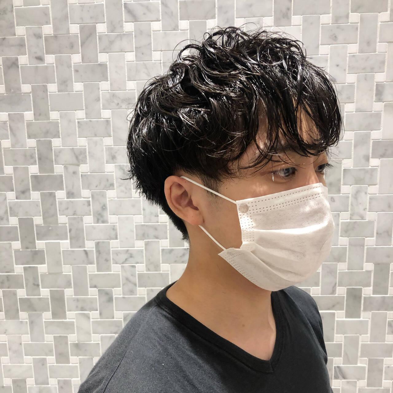 ナチュラル スパイラルパーマ メンズヘア メンズパーマヘアスタイルや髪型の写真・画像