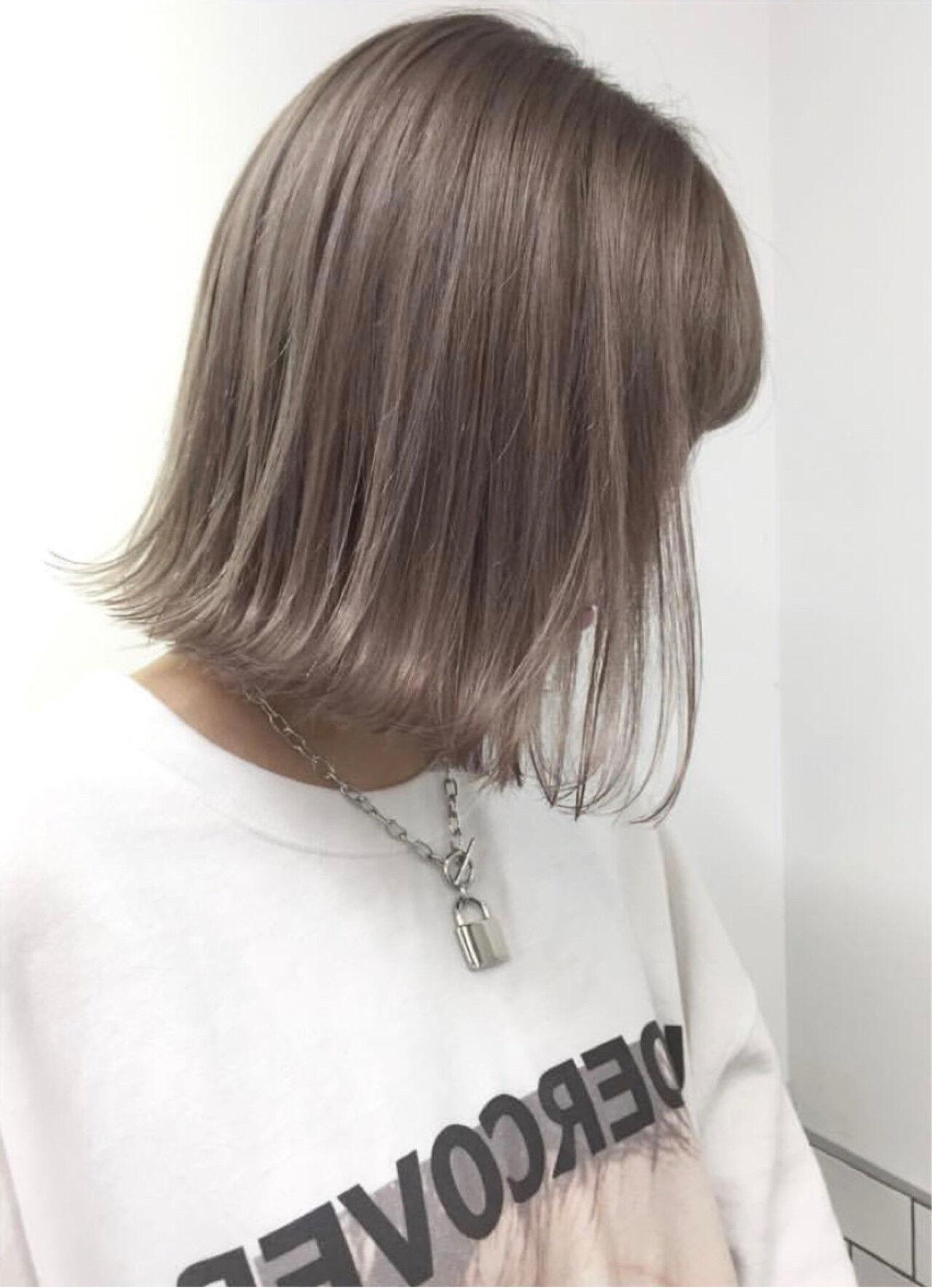 ハイライト ボブ ストリート ヘアアレンジヘアスタイルや髪型の写真・画像