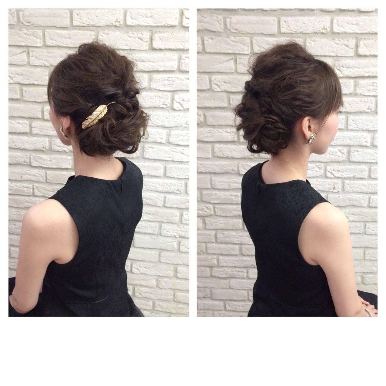 結婚式 ストリート 外国人風 ヘアアレンジヘアスタイルや髪型の写真・画像