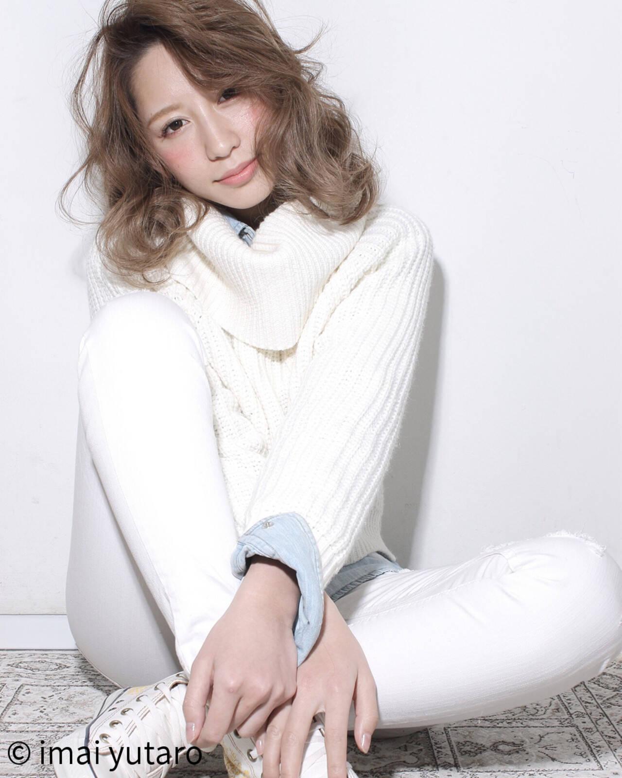 外国人風 ガーリー 大人かわいい レイヤーカットヘアスタイルや髪型の写真・画像