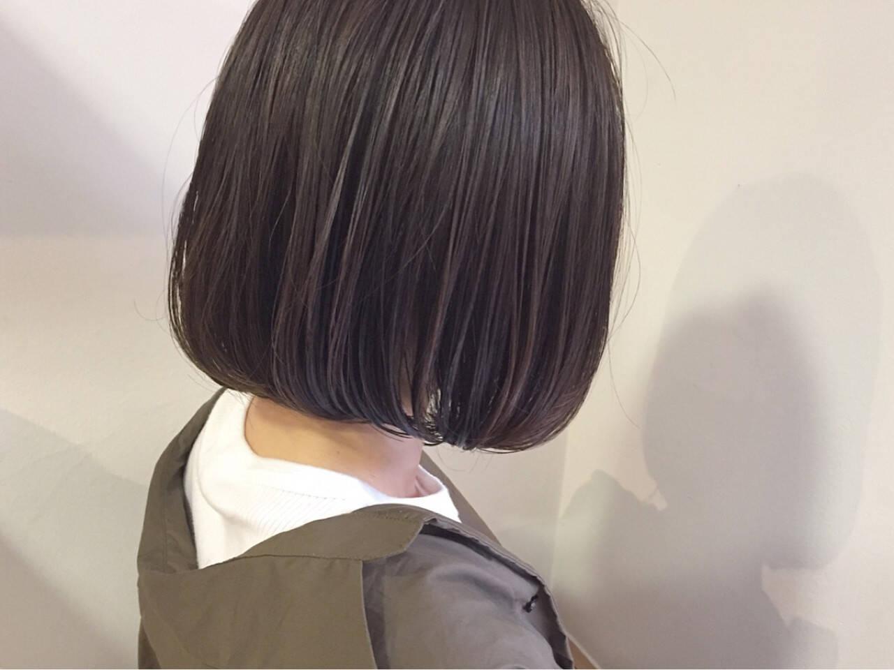 秋 オフィス 透明感 切りっぱなしヘアスタイルや髪型の写真・画像