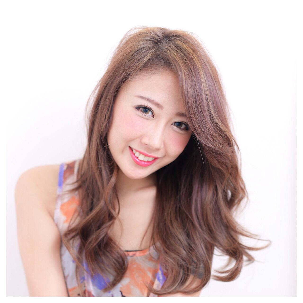 外国人風 ブラウン 大人かわいい パーマヘアスタイルや髪型の写真・画像