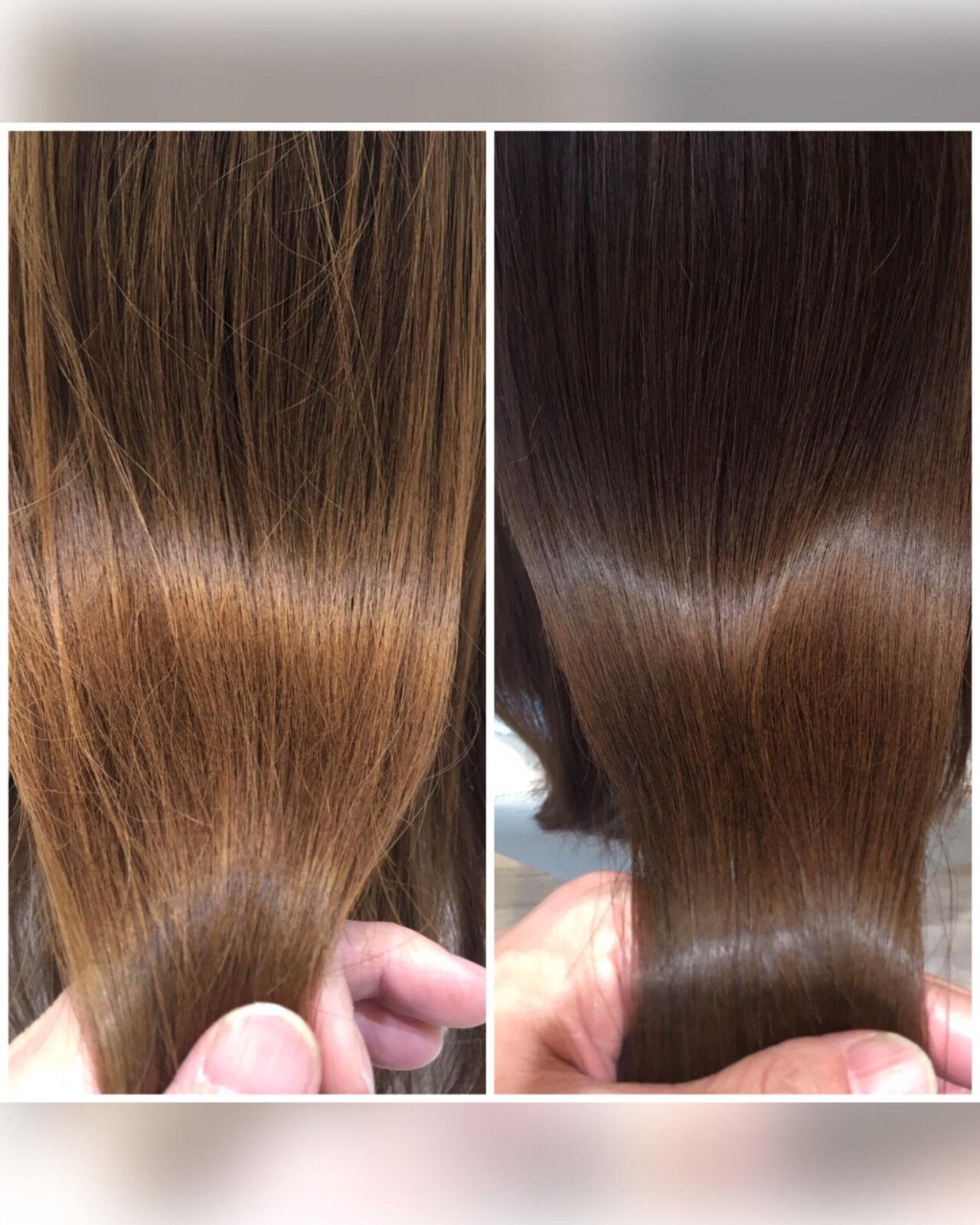 ナチュラル トリートメント セミロング 艶髪ヘアスタイルや髪型の写真・画像