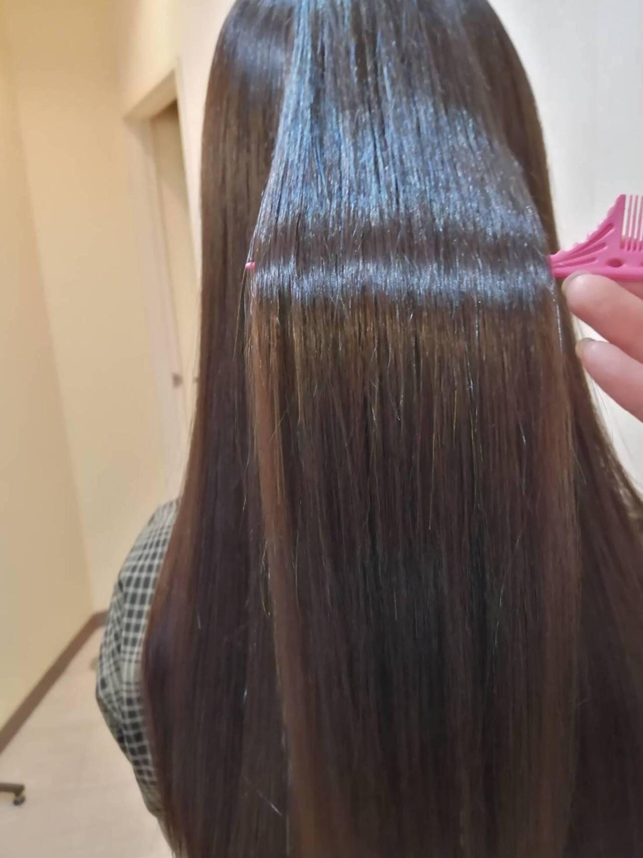 エレガント 髪質改善トリートメント 大人可愛い 大人ロングヘアスタイルや髪型の写真・画像