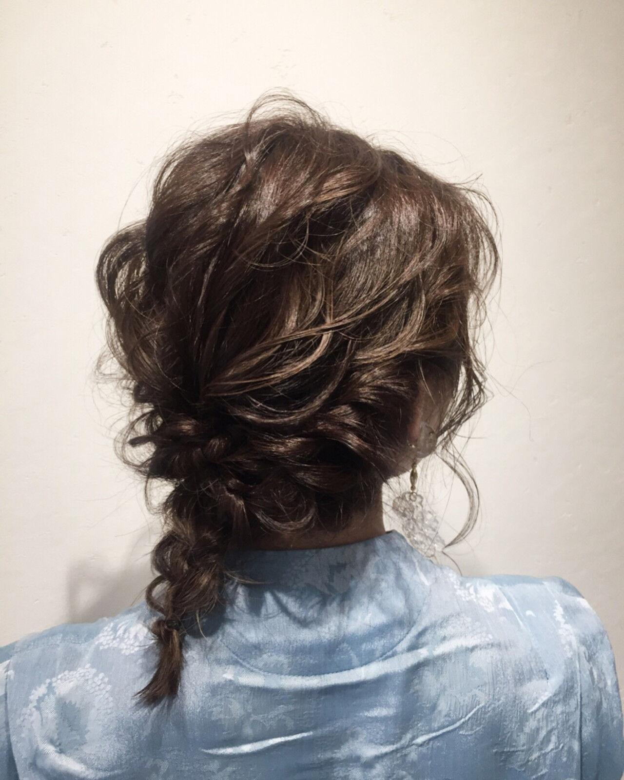 ヘアアレンジ 簡単ヘアアレンジ 結婚式 編み込みヘアスタイルや髪型の写真・画像