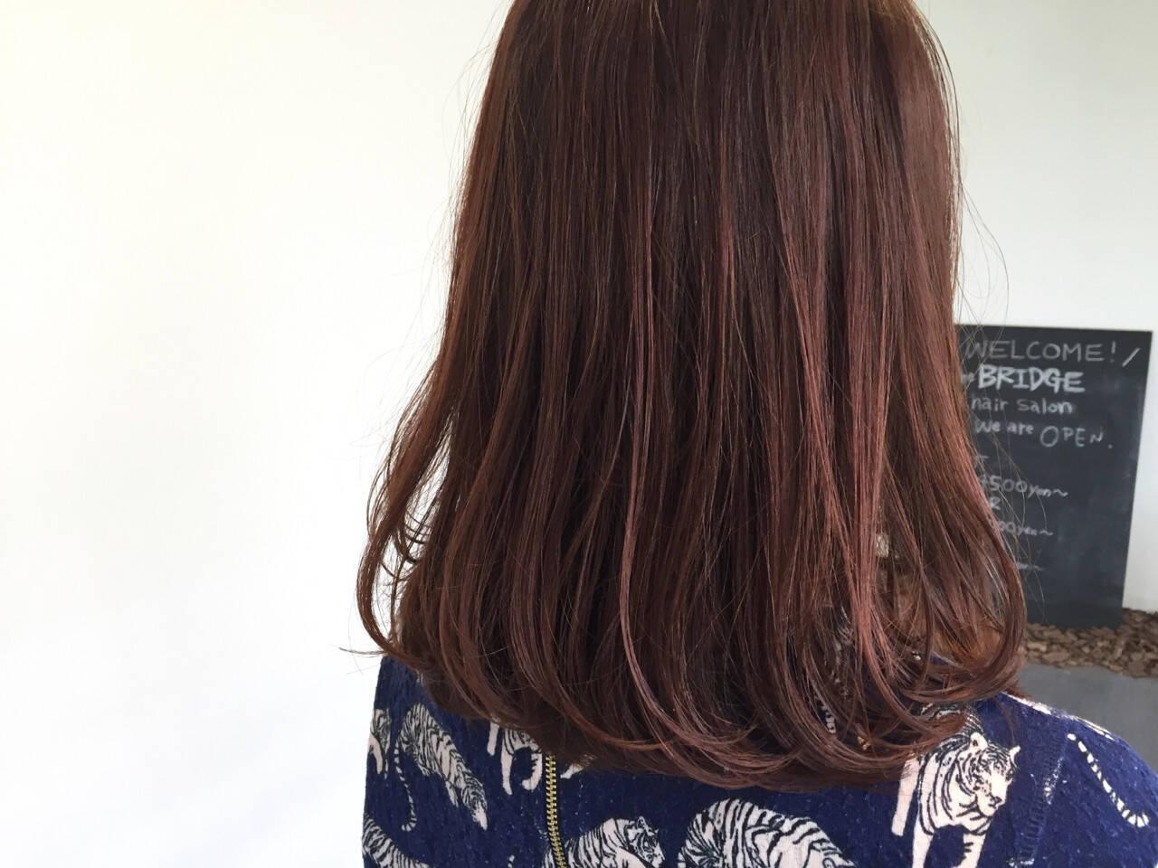 ロブ 艶髪 ミディアム ボブヘアスタイルや髪型の写真・画像