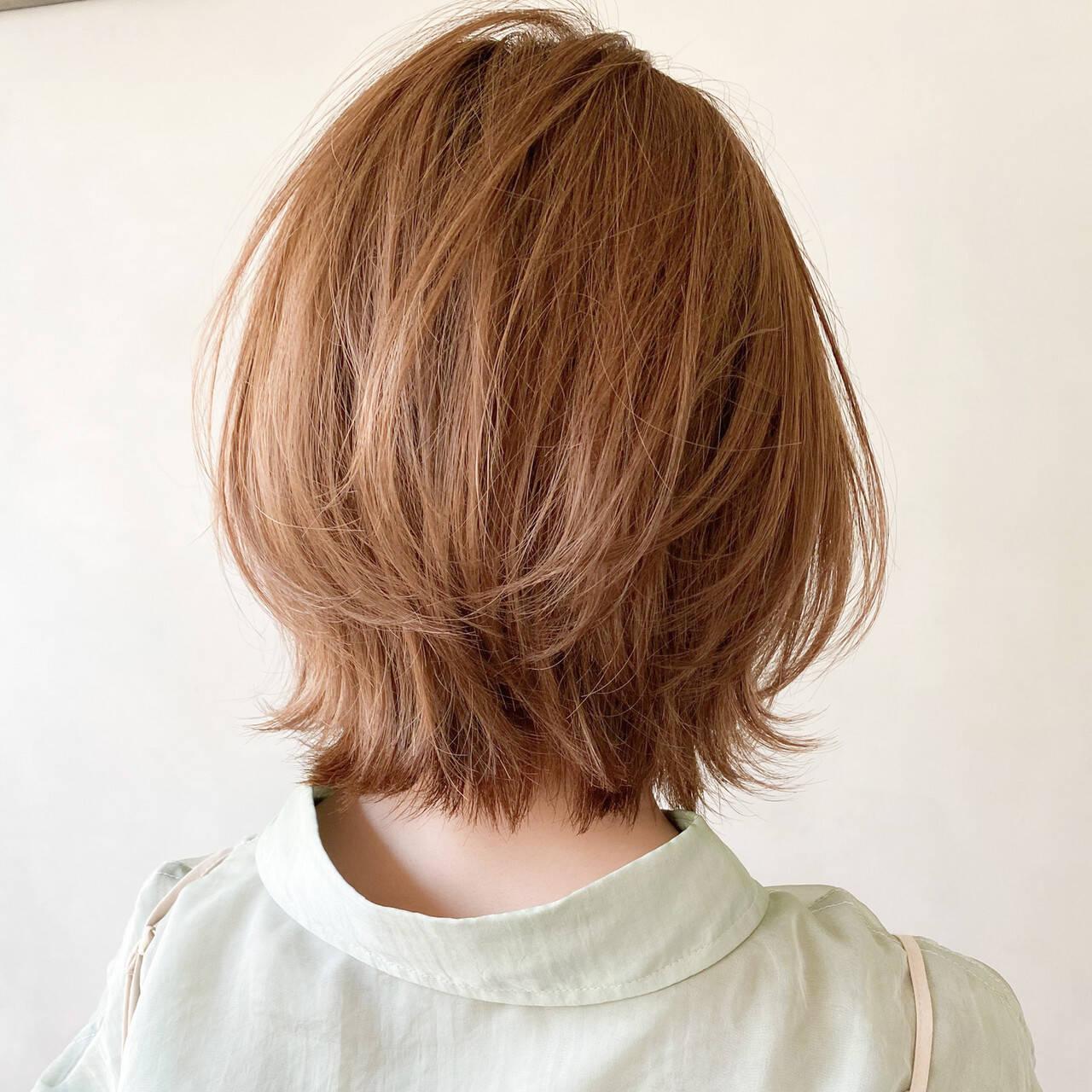 ボブ ナチュラル アンニュイほつれヘア 大人かわいいヘアスタイルや髪型の写真・画像