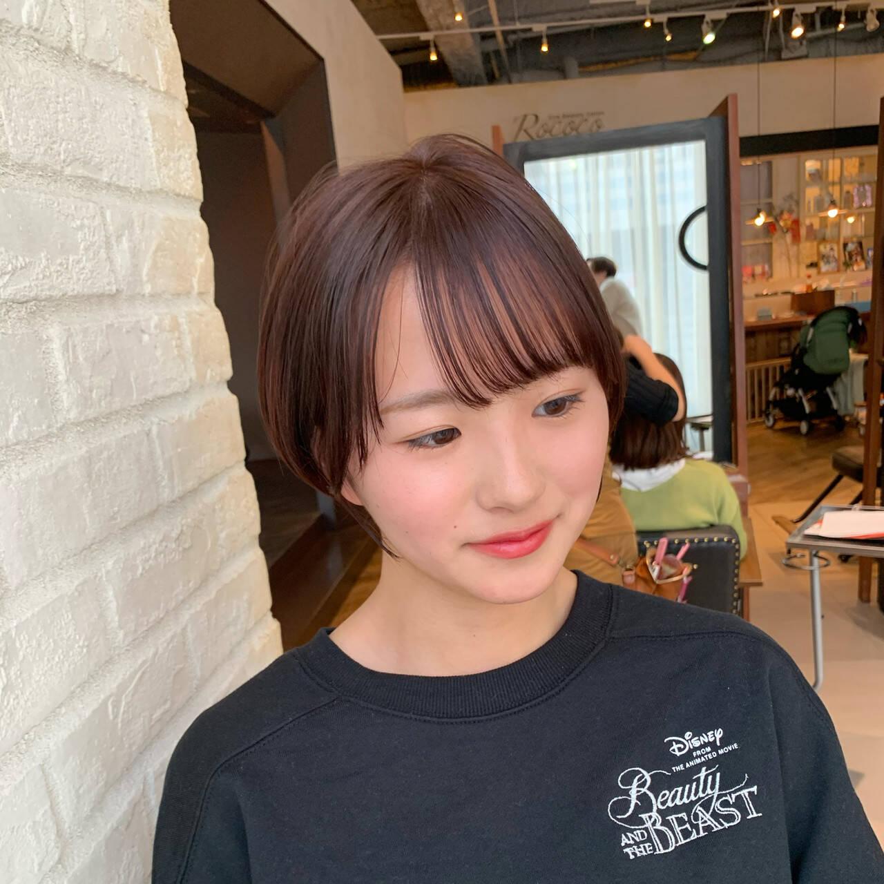 フェミニン ショートヘア ショート ショートボブヘアスタイルや髪型の写真・画像