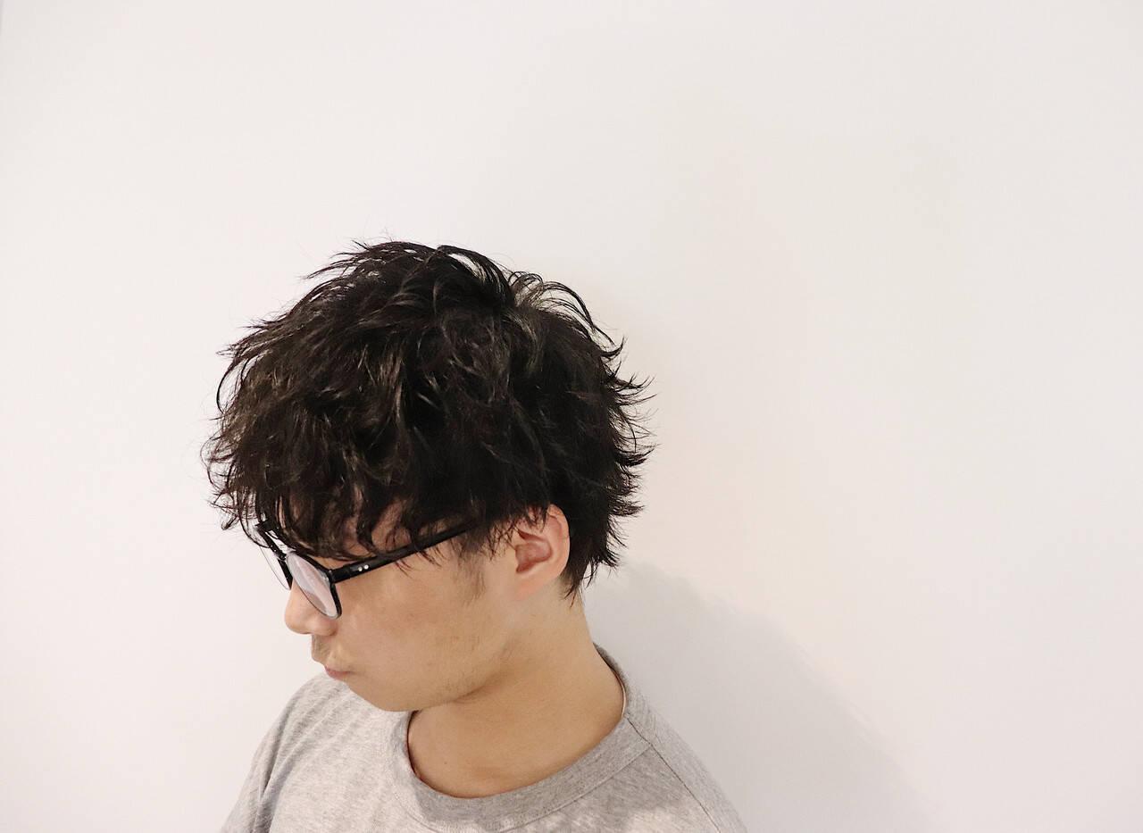 ショート ストリート ウルフパーマ ウルフレイヤーヘアスタイルや髪型の写真・画像