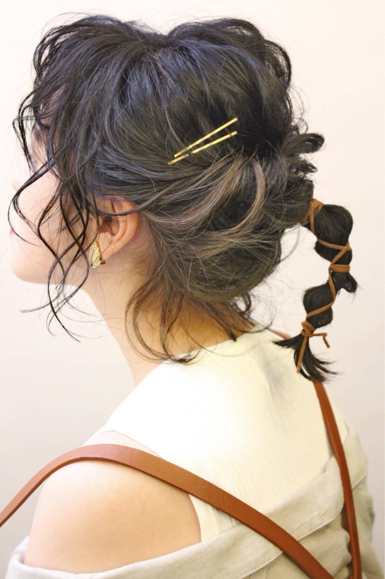 ボブ 夏 ナチュラル 編み込みヘアスタイルや髪型の写真・画像