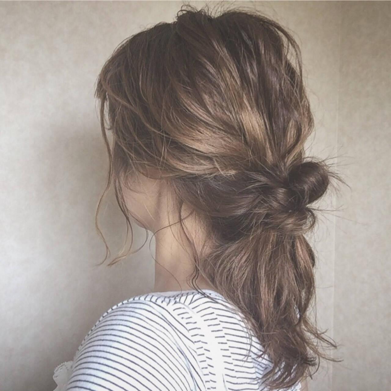 涼しげ ナチュラル 色気 夏ヘアスタイルや髪型の写真・画像