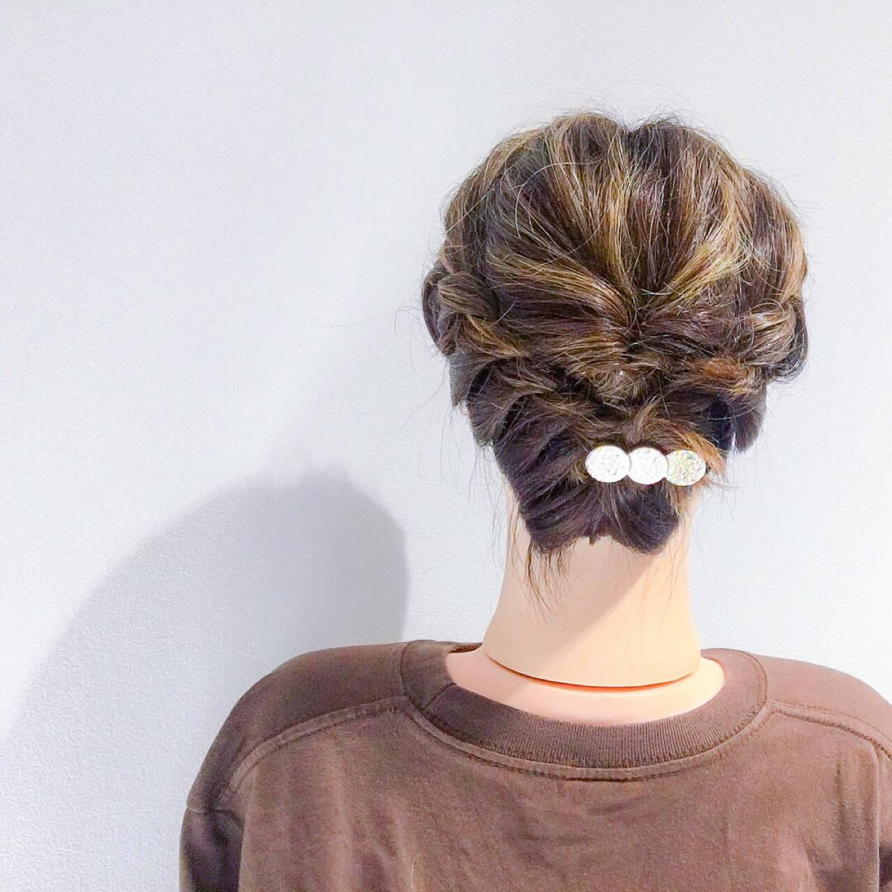上品 結婚式 ボブ ヘアアレンジヘアスタイルや髪型の写真・画像