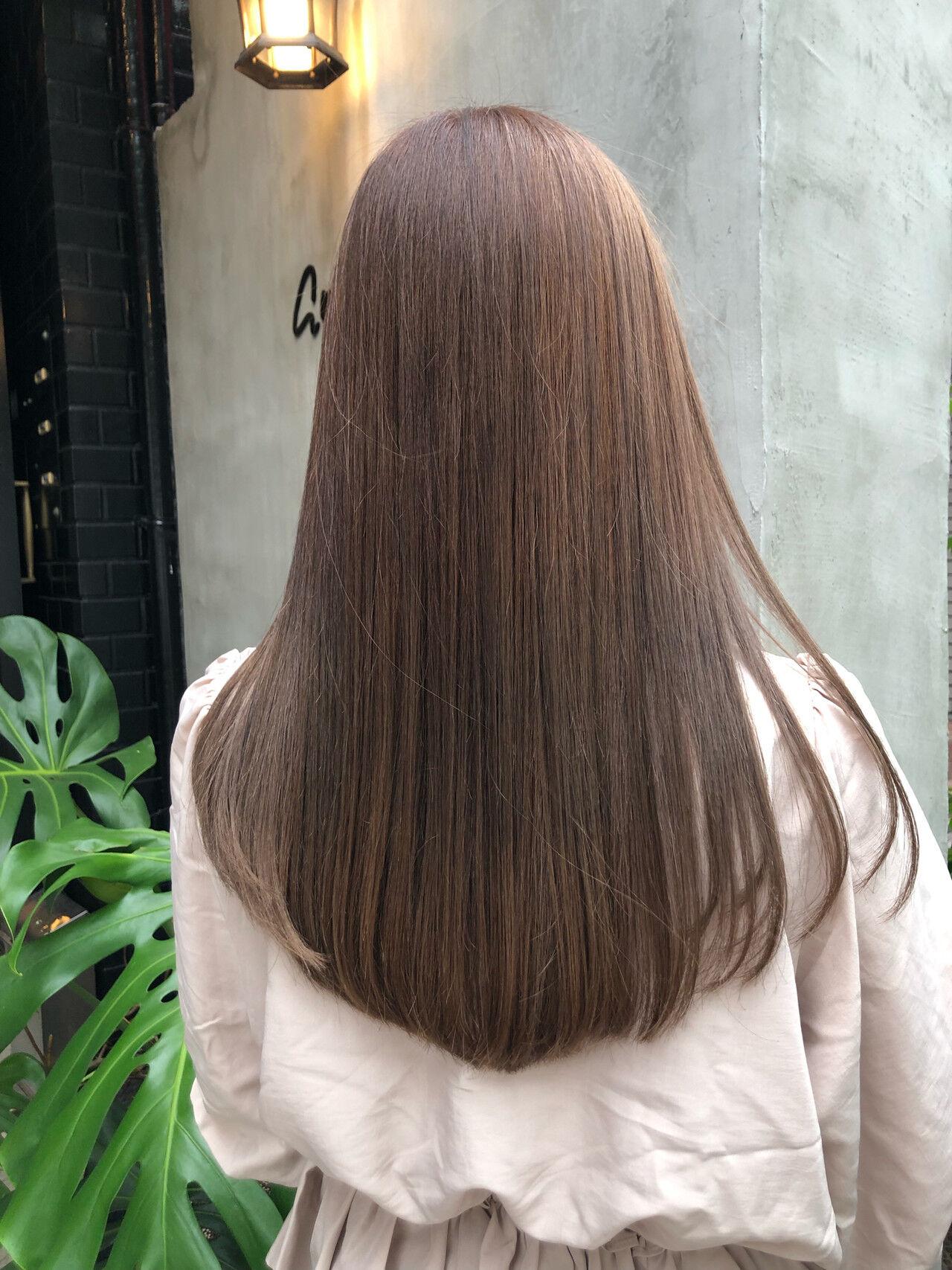 ミルクティーブラウン ミルクティー ミルクティーベージュ ダブルカラーヘアスタイルや髪型の写真・画像