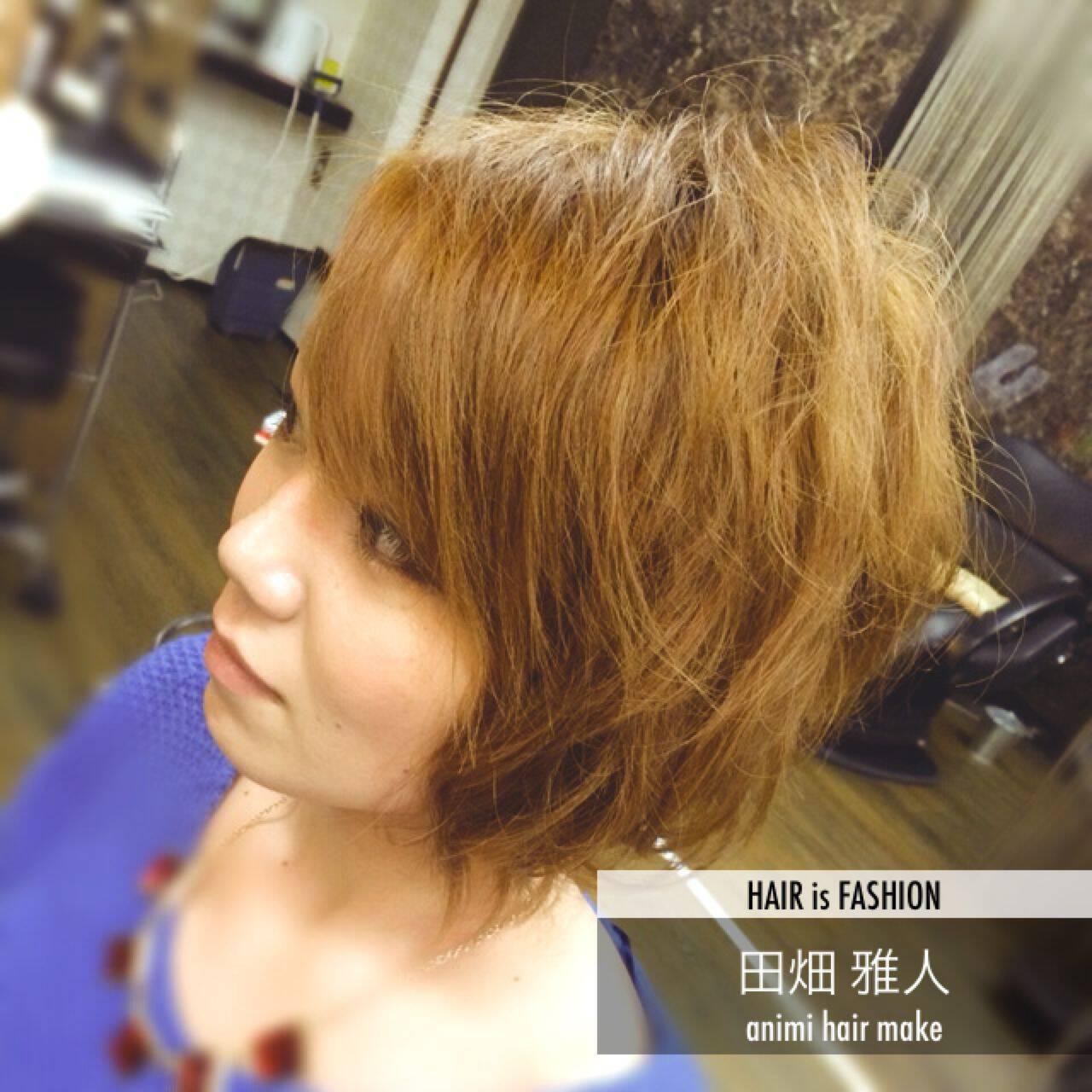 丸顔 ボブ パーマ ストリートヘアスタイルや髪型の写真・画像