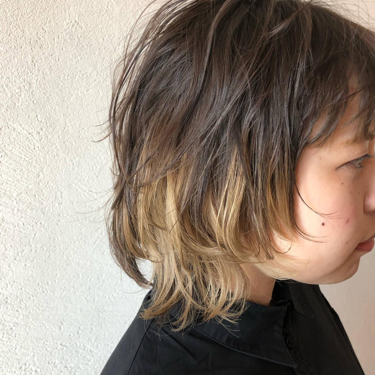ニュアンスウルフ ウルフ女子 ストリート ネオウルフヘアスタイルや髪型の写真・画像