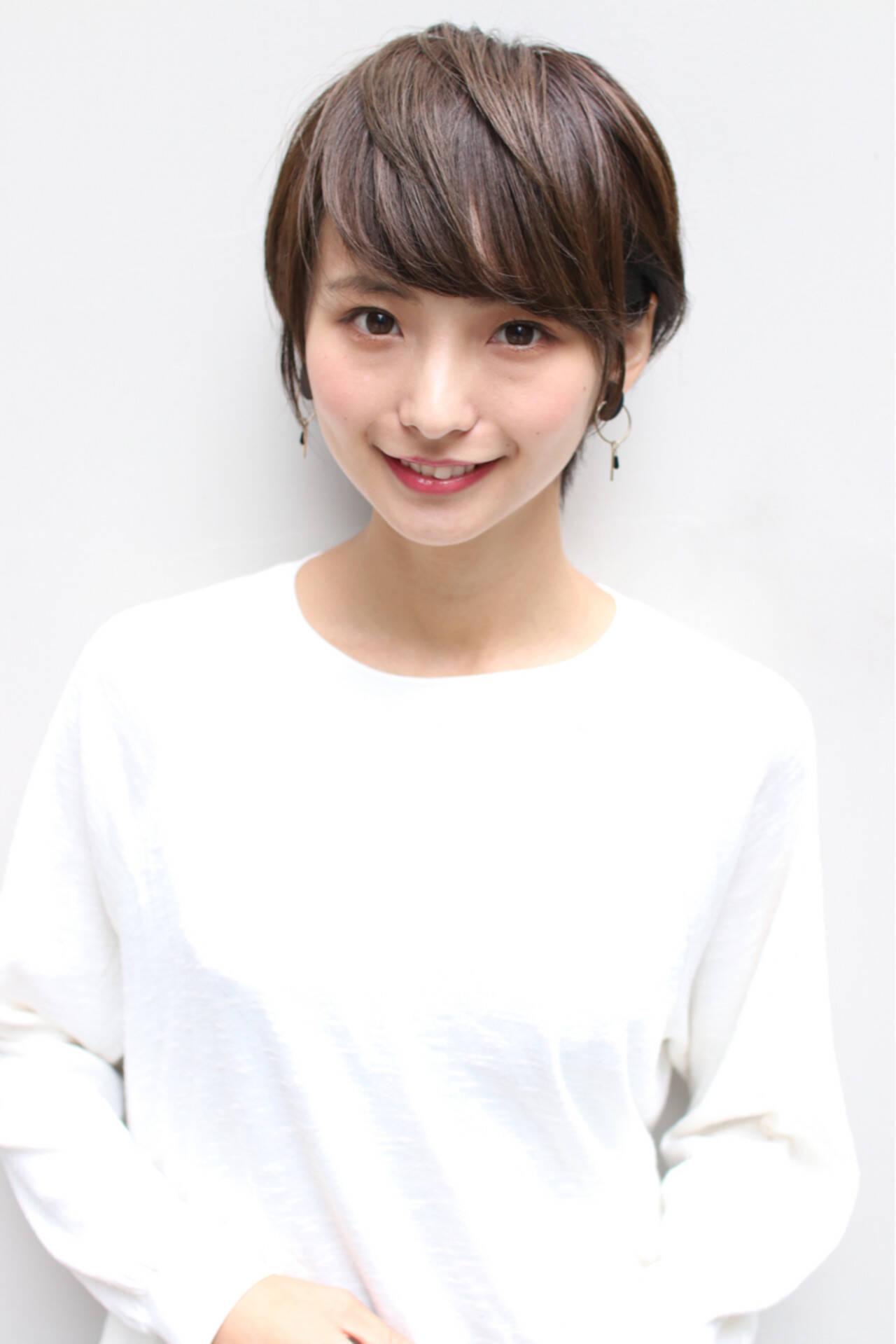 ショート かわいい モテ髪 簡単ヘアアレンジヘアスタイルや髪型の写真・画像
