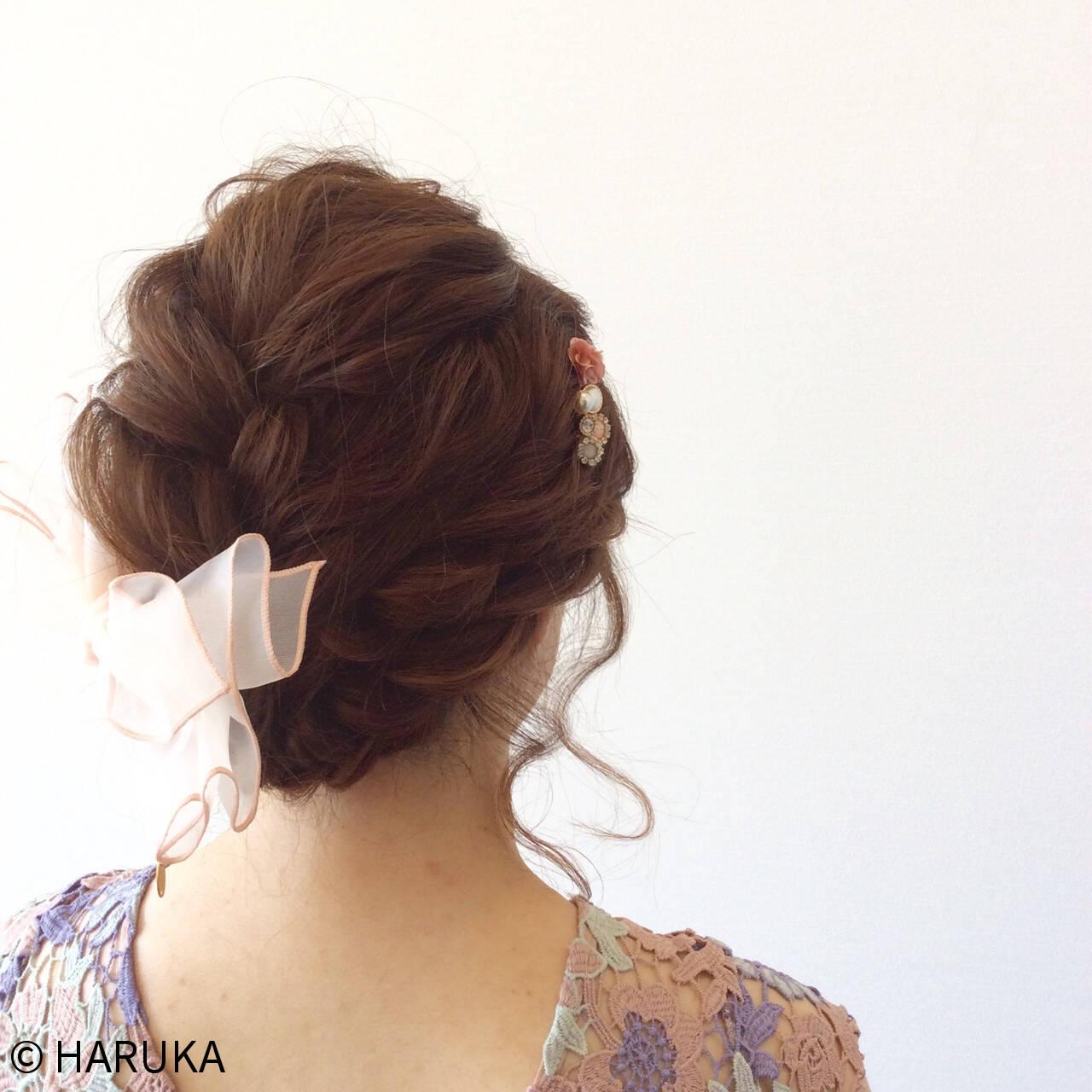 ヘアアレンジ 結婚式 フェミニン 大人かわいいヘアスタイルや髪型の写真・画像