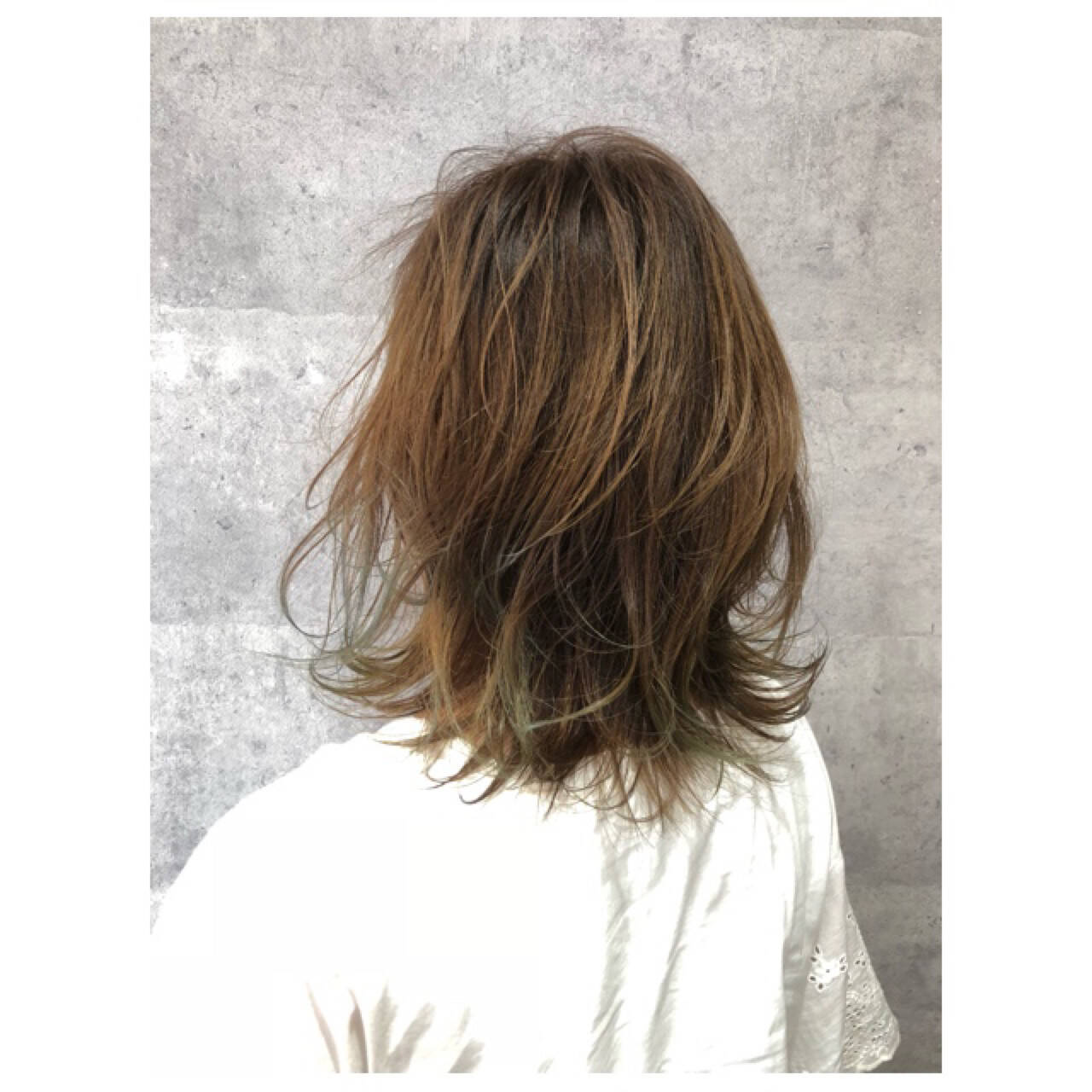 3Dカラー ミディアム ナチュラル 大人女子ヘアスタイルや髪型の写真・画像