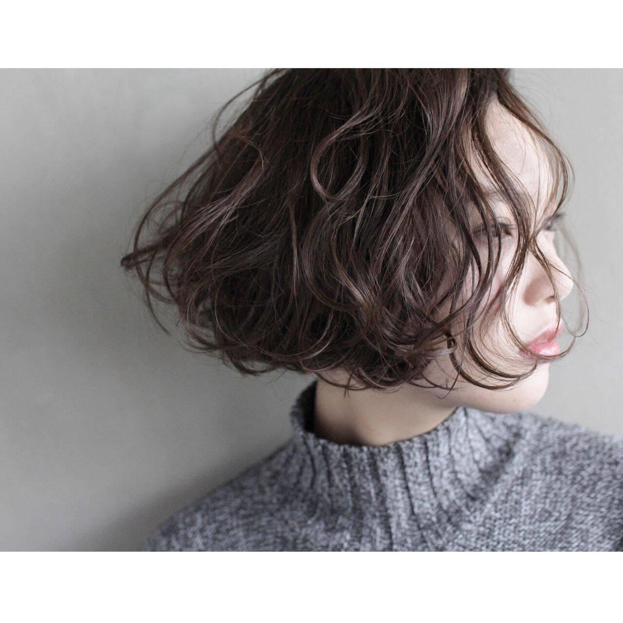 モード ボブ 抜け感 束感ヘアスタイルや髪型の写真・画像